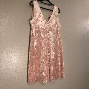 Sleeveless Velvet Dress
